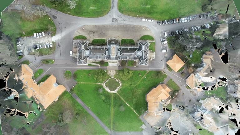 photo drone chateau d'auteuil