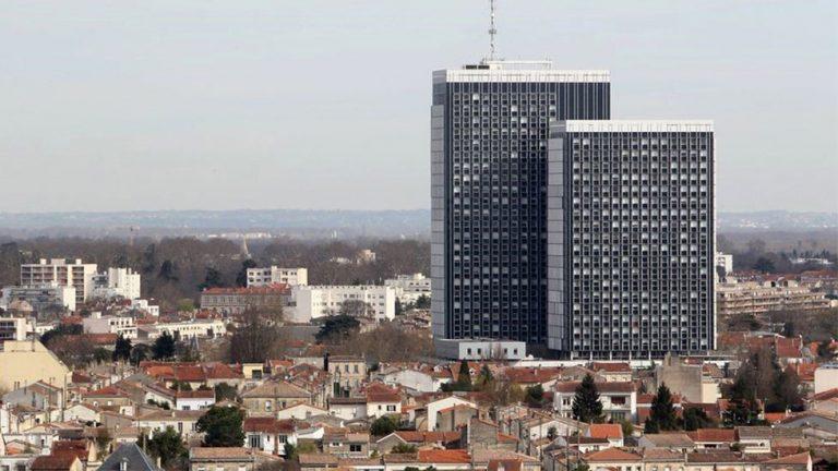 photo aérienne de la cité administrative de Bordeaux