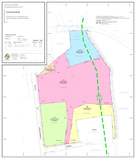 plan illustrant référence foncière