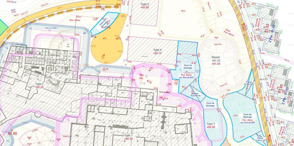 plan pour la construction d'un Center Parc
