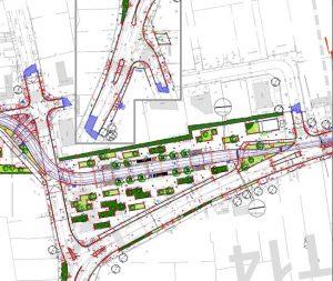 Plan de la ligne de tram D de Bordeaux