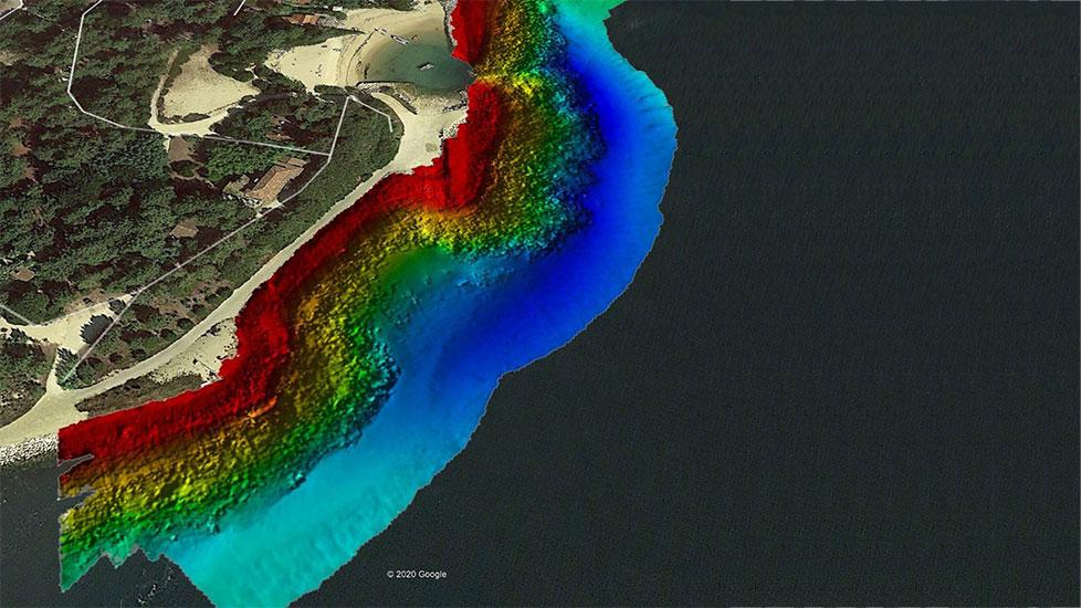 photo de vue aérienne d'Arachon